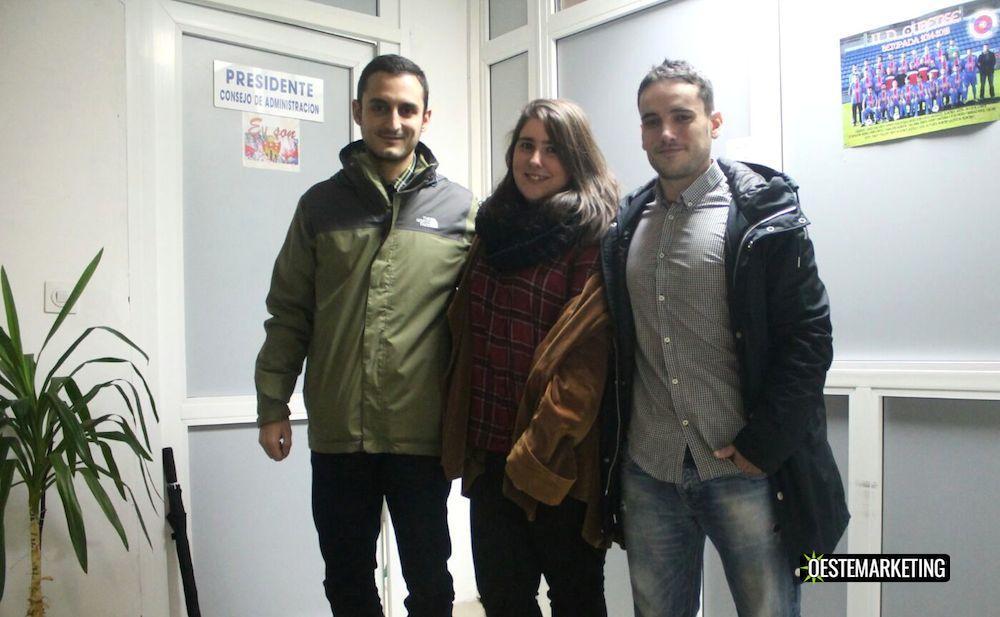Luis Estévez, Yedra Seara y Edmundo Dominguez (Foto Yedra Seara)