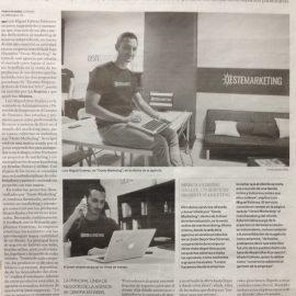 """Reportaje como una de las 10 propuestas ganadoras de """"Jóvenes Emprendedores Ourense 2015"""""""
