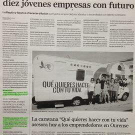 Certamen de promoción de nuevas empresas ourensanas 'Jóvenes Emprendedores Ourense 2015'